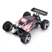 COZIME WLtoys A959 2.4G 1/18 Scale 4WD 45KM/h Electric RC Car RTR Off-road Buggy Red EU plug