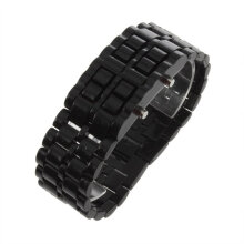 [COZIME] LED Digital Samurai Lava Wrist Watch Plastic Sports Style Mens Womens Unisex Black1