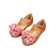 Meatball Bunny Sweet Princess Bright Leather Bow Flat Children's Shoes
