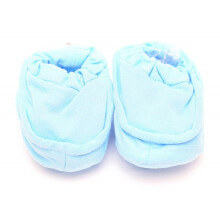 Cribcot Booties Plain - Baby Blue Size 0-3M