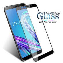 Santac Asus ZenFone Max Pro M1 ZB602KL Screen Protector Full Cover Tempered Glass Black