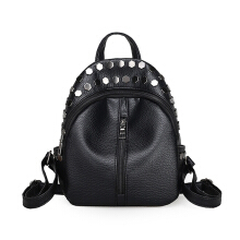 YOOHUI PB24 Leather Student Backpack  Fashion Bag Girls Women Backpack Hitam