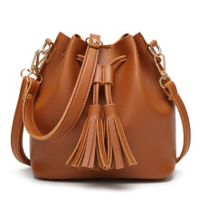 SiYing Japan and South Korea Female bag tassel bucket bag Shoulder Bags