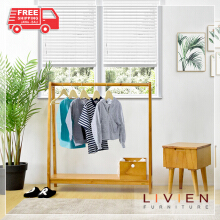 LIVIEN Furniture - Rak Gantung Baju - Hanger Brown