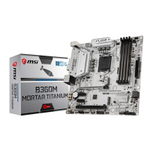 MSI B360M Mortar Titanium/ 2x PCIEx1 / 2x PCIEx16 / DVI/ HDMI/ Display Intel Socket 1151 m-ATX Motherboard