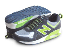 RECORD Air Trax Sepatu Men Running Shoes Biru Tua/ Citron