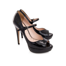 Pre-Owned Miu Miu Vernice Peep Toe Mary Janes