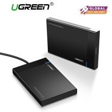 UGREEN External Hard Drive Enclosure USB 3.0 to SATA Hard Disk Case Housing for 2.5 Inch 9.5mm 7.5mm SATA III, HDD, SSD 6TB Max, Tool Free with UASP Micro USB 3.0 Cable Black