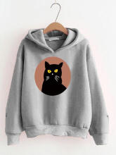 DAMAI FASHION BAJU ATASAN WANITA SWEATER HOODIE LILIANA 3WARNA Grey L