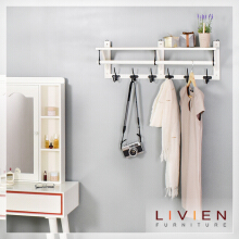 LIVIEN Furniture Rak Dinding Gantung - Stella Wall Rack - White
