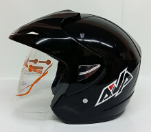 AVA Cruiser Helm Half Face - Black Metalik L