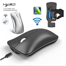 mouse Wireless Alloy Rechargeable HXSJ Silent Click Bluetooth