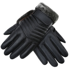 SiYing Men's Fashion Leather + Plush Imported Gloves Outdoor Riding Gloves