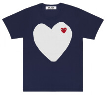 Comme des Garcons Play WHITE HEART