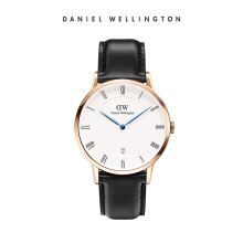 Daniel Wellington Dapper Leather Watch Sheffield Eggshell White 38mm