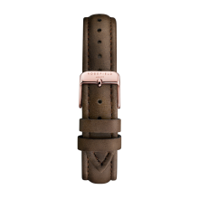 ROSEFIELD The Bowery Stitched Rose Gold Buckle Clasp with Black Leather Strap [SBRRC-S102]