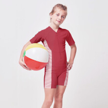 LEE VIERRA Family Swimwear - Red Diving Baju Renang Teens Unisex