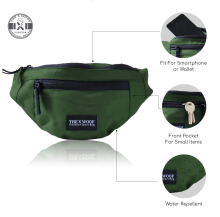 The X Woof - Water Repellent Wasit Bag, Ship-Mi Green Green