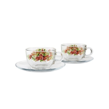 BRILIANT Cup and Saucer GM0804 Set of 4 - Andretty Red