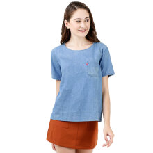 LEVI'S Darya Sporty Tee With Pocket Medium Authentic - Blue