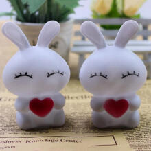 Farfi 7 Colors Changing Rabbit LED Night Light Lamp Bedroom Decoration as the pictures