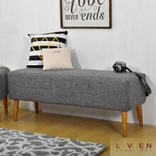 LIVIEN - ARFIN SOFA BENCH Gray- Bangku - Kursi - FURNITURE
