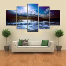 JDWonderfulHouse JDwonderfulhouse 5 Cascade The Blue Sky River Wall Painting Picture Home Decoration Without Frame Including Installa
