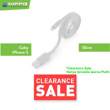 Hippo Caby 1 Lightning Kabel Data & Charger 50cm Putih