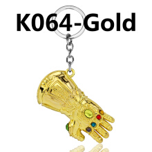 Jantens Infinity Glove Gauntlet Keychain Metal Key Rings Chaveiro Key Chain Jewelry gold bronze sliver color