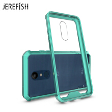 JEREFISH LG K10 2018 Phone Case Shock-Absorption Bumper Style Premium Hybrid Protective Clear Cover