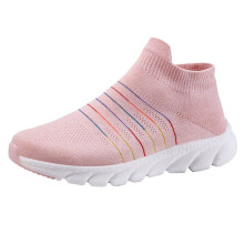 BESSKY Outdoor Adult Trainers Running Shoes Woman Sock Shoes Breathable Mesh Sneakers_