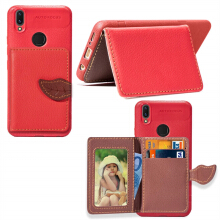 MOONMINI PU Leather Wallet Case Card Slots Cover for Vivo V9