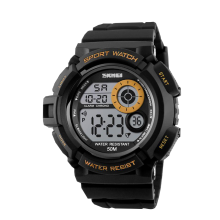 SKMEI Jam Tangan Pria Digital 1222 Orange Water Resistant 50M