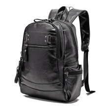 YOOHUI Backpacks for men Bag PU Black Leather Men's Shoulder Bags Fashion Male