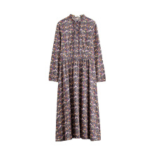 INMAN 1881101674 Dress 2018 Women Casual A Line Print Regular Autumn Floral Printed Casual Dress