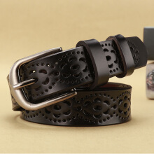 SiYing Korean version of the hollow needle buckle leather belt