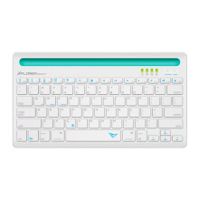 ALCATROZ Xplorer Dock 1 Bluetooth Keyboard - White Turquoise