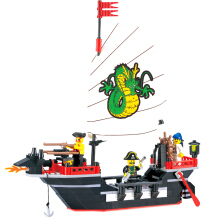 BL 211pcs Building Blocks Pirate Ship Dragon Boat Educational Toys -One Size -Multicolor