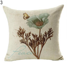 Farfi Vintage Flower Style Pillow Case Bed Sofa Square Throw Cushion Cover Home Decor