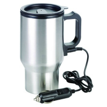 Heated Drinking Mug Car Water Heater Pemanas Air Elektrik Mobil 12V Silver