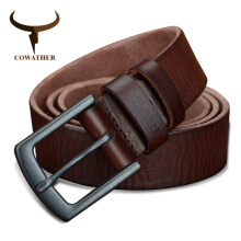 COWATHER cowhide genuine leather belts for men vintage new design male strap110-130cm MEN belt