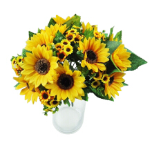 Farfi 7 Heads Artificial Sunflower
