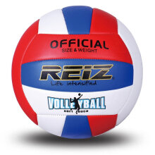 REIZ Professional Soft Volleyball Ball Competition Training Ball Official Size white & red & blue