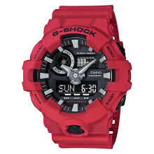 Casio G-Shock GA-700-4ADR Water Resistant 200M Resin Band [GA-700-4ADR] - Red