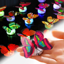 IVOLKS 1pcs Decorative lights - butterflies Gold
