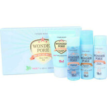 Paket Etude House Wonder Pore Skin Care Kit Deep Foaming Cleanser Facial Foam Freshner Toner Tightening Essence Serum Emulsion