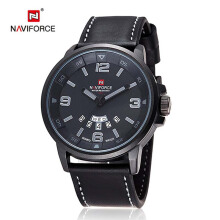 NAVIFORCE Top Brand Luxury Men's Quartz Watch Waterproof Sport Military Watches Men Leather relogio masculino