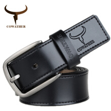 COWATHER top cow genuine leather belts fashion design cow genuine