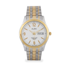 ALBA Jam Tangan Pria - Silver Gold - Stainless Steel - AXND52
