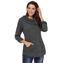 Bestielady N1403 Women's Pullover Taped Sleeves Sweatshirt